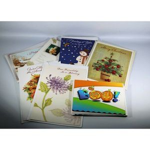 Lot of 20 Variety Holiday Cards Halloween, Thanksg